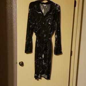 Retro 70s short dress with pockets